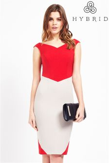 Hybrid Fashion Crepe Bardot Bodycon Dress