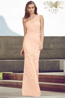 Lipsy VIP One Shoulder Maxi Dress