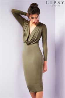 Lipsy Cowl Front Bodycon Dress