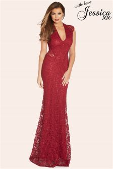 Jessica Wright Sequin Maxi Dress