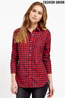 Fashion Union Check Shirt