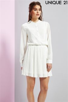 Unique 21 Palermo Pleated Skirt Dress