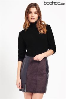 Boohoo Turtle Neck Crop Jumper
