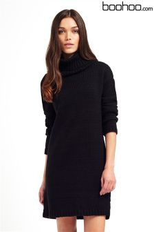 Boohoo Cowl Neck Soft Knit Jumper Dress