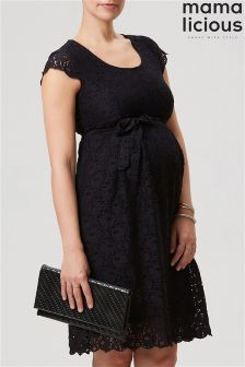 Mamalicious Maternity Cap Sleeve Lace Dress