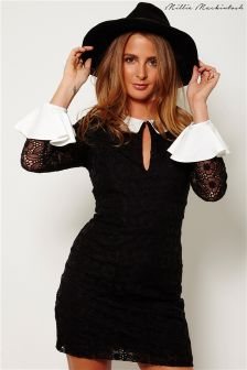 Millie Mackintosh Fitted Dress With Contrast Cuffs