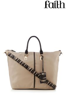 Faith Zebra Soft Tote Bag