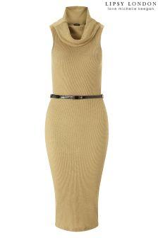 Lipsy Love Michelle Keegan Cowl Neck Sleeveless Dress