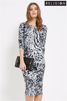 Religion Tremor Print Dress