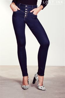 Lost Ink High Rise Skinny Jeans