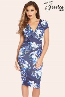 Jessica Wright Multi Floral Print Bodycon Dress