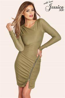 Jessica Wright Megan Long Sleeve Zip Dress