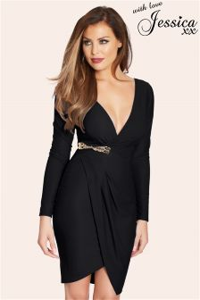 Jessica Wright Tia Plunge Wrap Dress