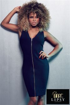 Fleur East By Lipsy Zip Bodycon Dress