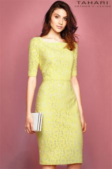Tahari Lace Midi Dress