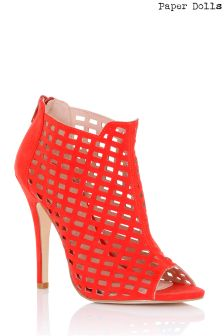 Paper Dolls Cage Heeled Shoe Boots