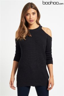 Boohoo Cold Shoulder Jumper