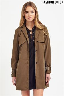 Fashion Union Suede Trench