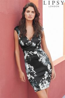 Lipsy Floral Print Bodycon Dress