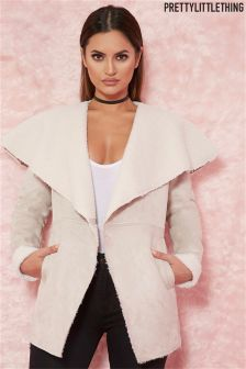 Pretty Little Thing Faux Suede Waterfall Jacket
