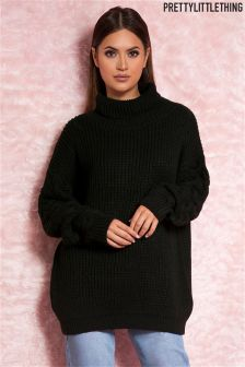 PrettyLittleThing Oversized Chunky Cable Knit Sleeve Jumper