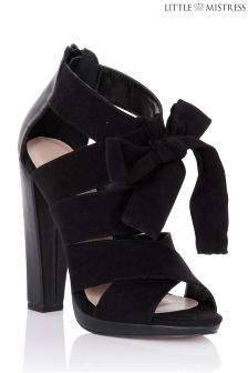Little Mistress Thick Bow Mule Heels