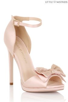 Little Mistress Satin Double Bow Ankle Strap
