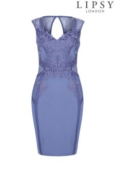Lipsy Love Michelle Keegan Applique Bodycon Dress