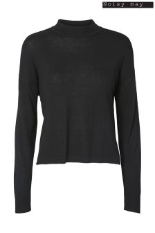 Noisy May Long Sleeve High Knit Top