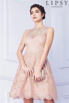 Lipsy Embellished Long Prom Dress