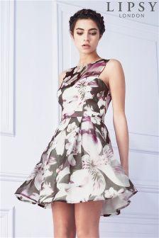 Lipsy Lilly Print Skater Dress