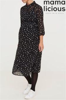 Mamalicious Maternity Print Dress