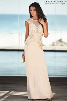 Lipsy Love Michelle Keegan Foil Placement Maxi Dress