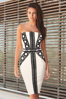 Lipsy Love Michelle Keegan Stitch Detail Bandeau Dress