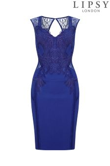 Lipsy Love Michelle Keegan Appliqué Trim Bodycon Dress