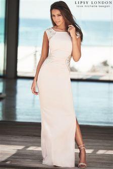Lipsy Love Michelle Keegan Sequin Stripe Maxi Dress