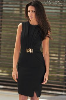 Lipsy Love Michelle Keegan Chain Trim Wrap Dress