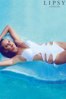 Lipsy Side Tie Cutout Swimsuit