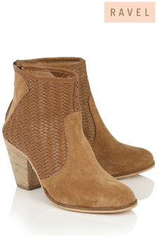 Ravel Block Heel Ankle Boot