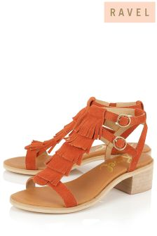 Ravel Fringe Detail Sandals