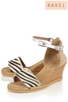 Ravel Animal Print Wedge Sandals