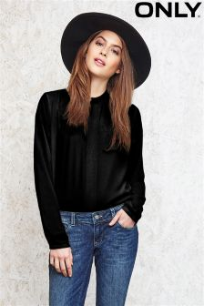 Only Highneck Cropped Shirt