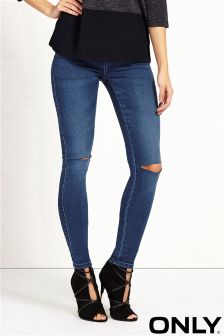 Only Super Skinny Split Knee Jeans