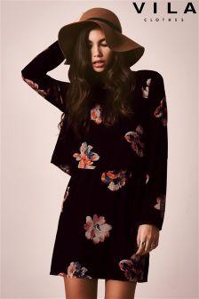 Vila 2 In 1 Floral Print Dress