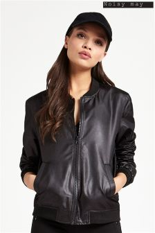 Noisy May Shiny Bomber Jacket