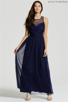 Little Mistress Crossover Chest Maxi Dress