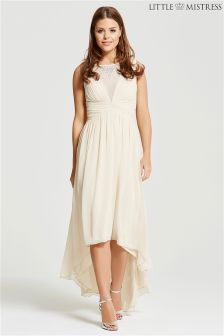 Little Mistress Chloe Lewis Edit Dip Hem Maxi Dress