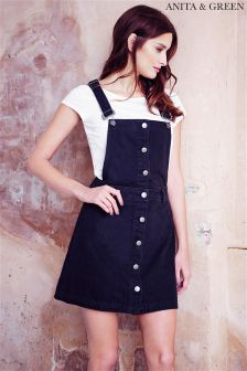 Anita & Green Denim Pinafore Dress