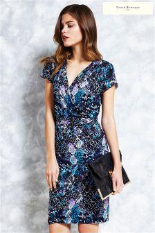 Uttam Boutique Snake Print Jersey Wrap Dress