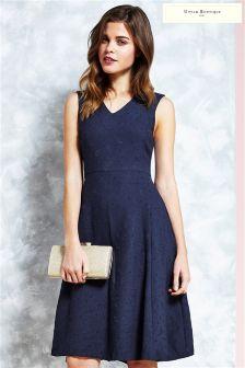 Uttam Boutique Jacquard Midi Dress